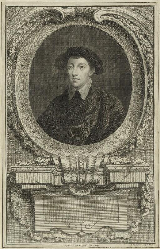 Henry Howard, Earl of Surrey, by Jacobus Houbraken, published 1750 - NPG D24234 - © National Portrait Gallery, London