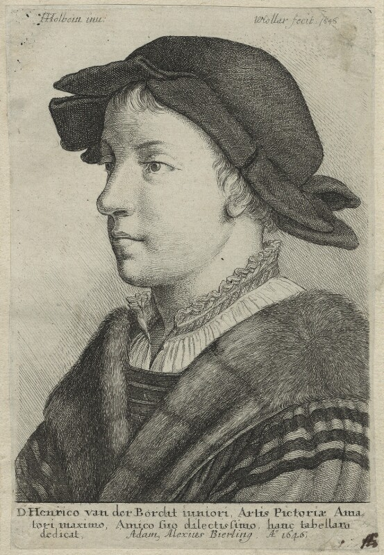 Unknown Man (probably Swiss), by Wenceslaus Hollar, after  Hans Holbein the Younger, 1646 - NPG D24239 - © National Portrait Gallery, London