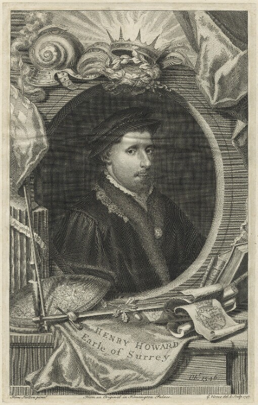 Henry Howard, Earl of Surrey, by George Vertue, after  Hans Holbein the Younger, 1747 - NPG D24240 - © National Portrait Gallery, London