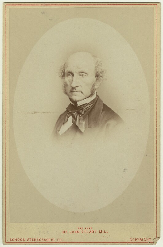 John Stuart Mill, by John Watkins, or by  John & Charles Watkins, printed by  London Stereoscopic & Photographic Company, 1865 (1870s) - NPG x12520 - © National Portrait Gallery, London