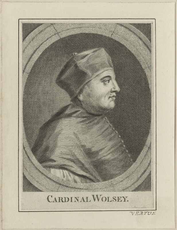 Thomas Wolsey, possibly by George Vertue, after  Hans Holbein the Younger, probably 18th century - NPG D24248 - © National Portrait Gallery, London