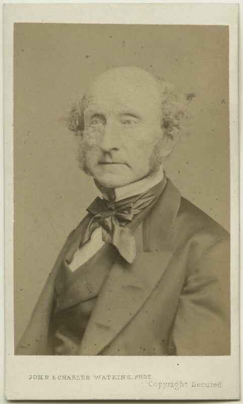 John Stuart Mill, by John & Charles Watkins, or by  John Watkins, 1865 - NPG Ax39840 - © National Portrait Gallery, London