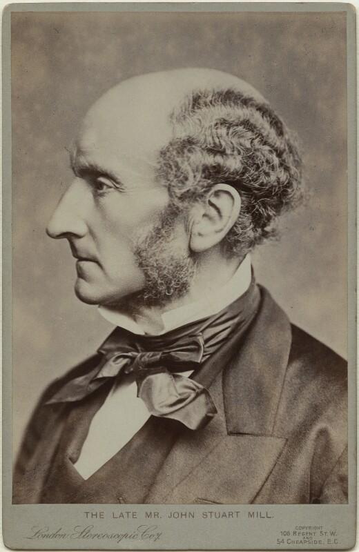 John Stuart Mill, by John Watkins, or by  John & Charles Watkins, printed by  London Stereoscopic & Photographic Company, 1865 (1900s) - NPG x12522 - © National Portrait Gallery, London
