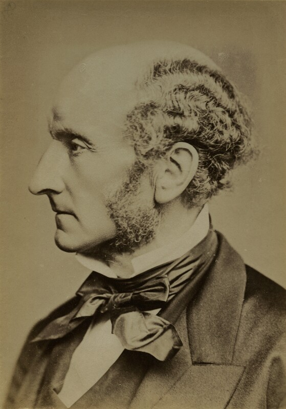 John Stuart Mill, by John Watkins, or by  John & Charles Watkins, 1865 - NPG x9064 - © National Portrait Gallery, London