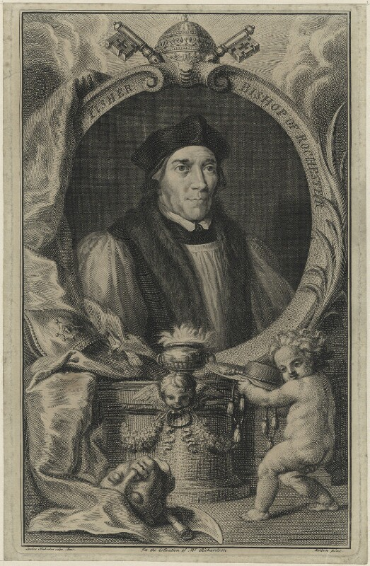 John Fisher, by Jacobus Houbraken, after  Hans Holbein the Younger, circa 1737-1742 - NPG D24259 - © National Portrait Gallery, London