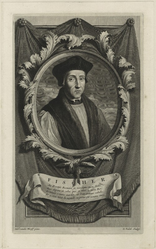 John Fisher, by Gerard Valck, after  Adriaen van der Werff, published 1697 - NPG D24260 - © National Portrait Gallery, London
