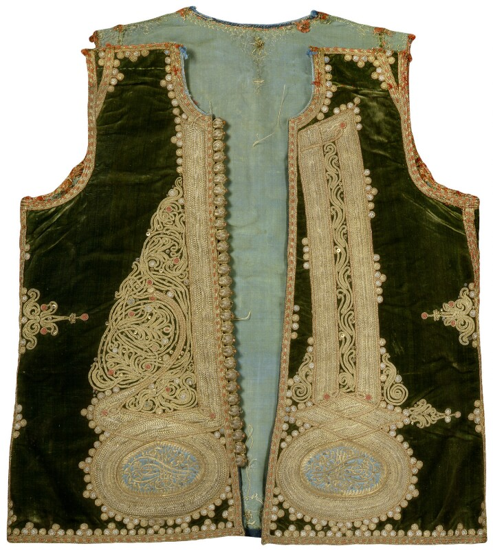 Embroidered waistcoat belonging to Thomas Hope, by Unknown artist, circa 1787-1795 - NPG D31703 - © National Portrait Gallery, London