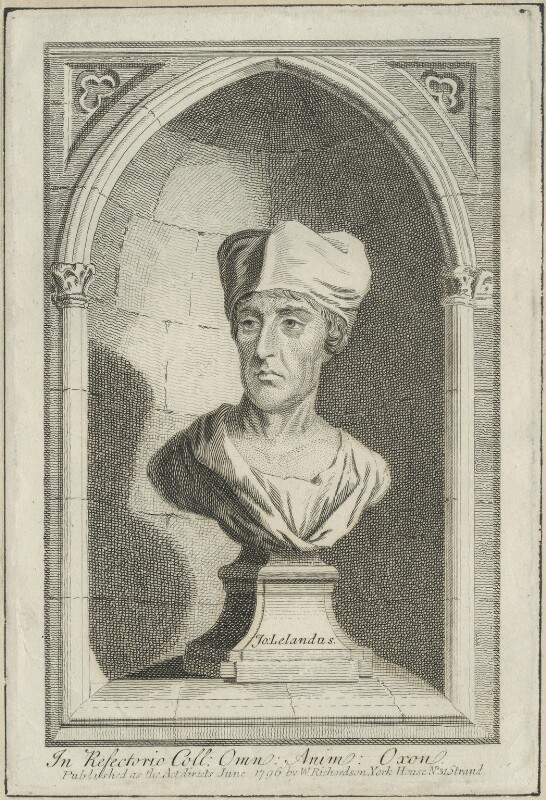 The bust of John Leland at All Souls' College, published by William Richardson, published June 1796 - NPG D24292 - © National Portrait Gallery, London