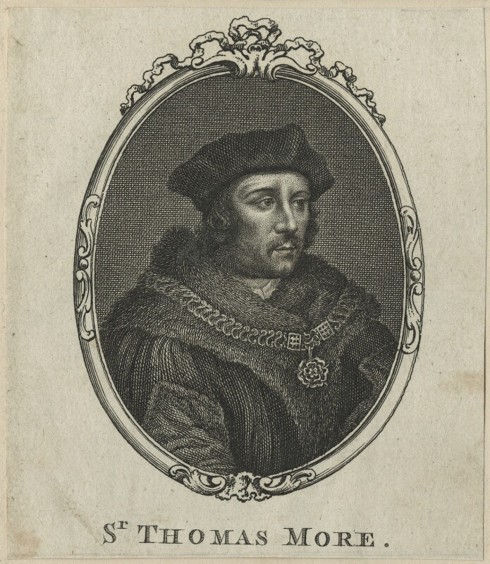 Sir Thomas More, after Unknown artist, probably 18th century - NPG D24310 - © National Portrait Gallery, London