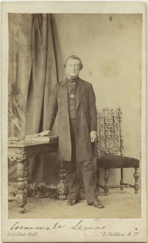 Sir George Cornewall Lewis, 2nd Bt, by Leonida Caldesi, 1860s - NPG x12439 - © National Portrait Gallery, London