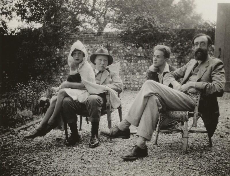 Angelica Vanessa Garnett (née Bell); Clive Bell; Stephen Tomlin; Lytton Strachey, by Vanessa Bell (née Stephen), 1926 - NPG x13136 - © estate of Vanessa Bell courtesy of Henrietta Garnett