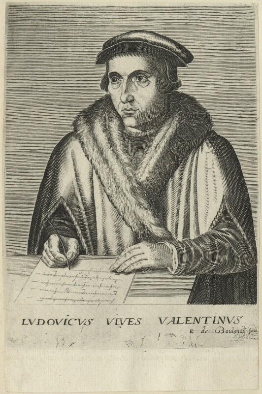 Juan Lewis Vives, by Edme de Boulonois, possibly late 17th century - NPG D24337 - © National Portrait Gallery, London