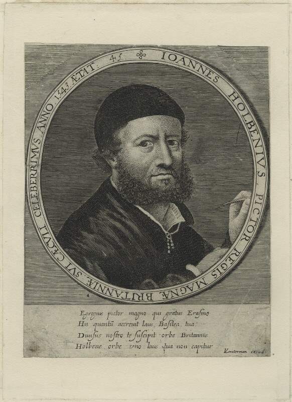 Hans Holbein the Younger, probably by and published by Lucas Vorsterman, after  Hans Holbein the Younger, circa 1647-1650s - NPG D24341 - © National Portrait Gallery, London
