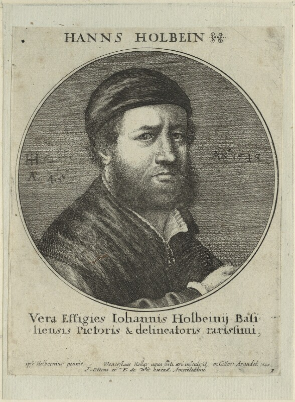 Hans Holbein the Younger, by Wenceslaus Hollar, published by  Joachim Ottens, and published by  Frederick de Wit, after  Hans Holbein the Younger, 1647 (1543) - NPG D24343 - © National Portrait Gallery, London