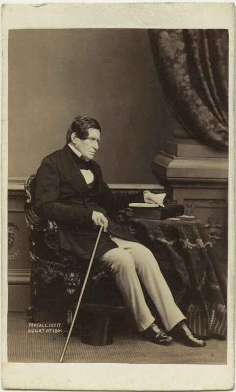 John Singleton Copley, Baron Lyndhurst, by Mayall, 1861 - NPG x20194 - © National Portrait Gallery, London