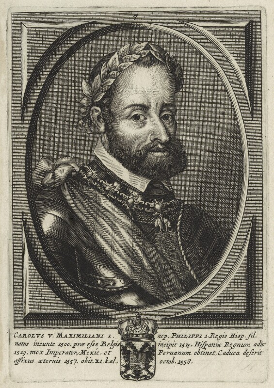 Charles V, Holy Roman Emperor, after Unknown artist, possibly 18th century - NPG D24774 - © National Portrait Gallery, London
