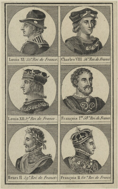 Kings of France, after Unknown artist, possibly 18th century - NPG D24778 - © National Portrait Gallery, London