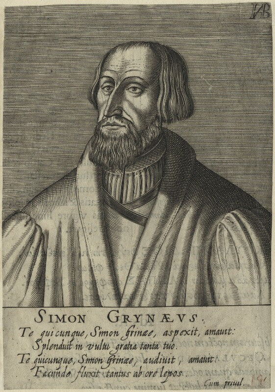 Simon Grynaeus, after Unknown artist, perhaps 17th century - NPG D24782 - © National Portrait Gallery, London