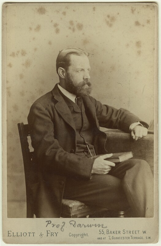 Sir George Howard Darwin, by Elliott & Fry, 1880s - NPG x5943 - © National Portrait Gallery, London