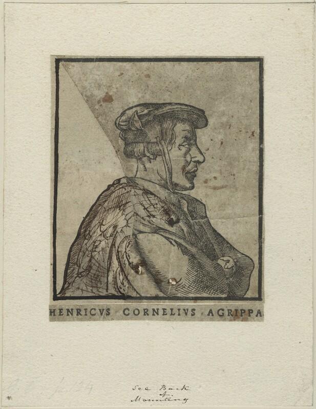 Heinrich Cornelius Agrippa, after Unknown artist, perhaps 17th century - NPG D24788 - © National Portrait Gallery, London