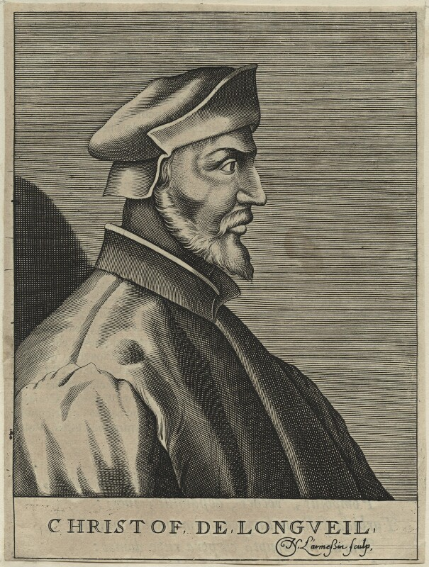 Christophe de Longueil, by Nicolas de Larmessin, late 17th century - NPG D24791 - © National Portrait Gallery, London