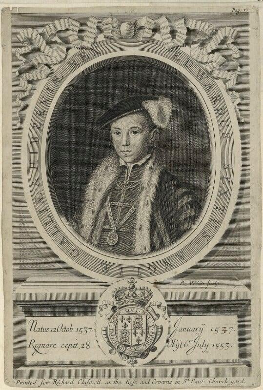 King Edward VI, by Robert White, 1681 - NPG D24811 - © National Portrait Gallery, London