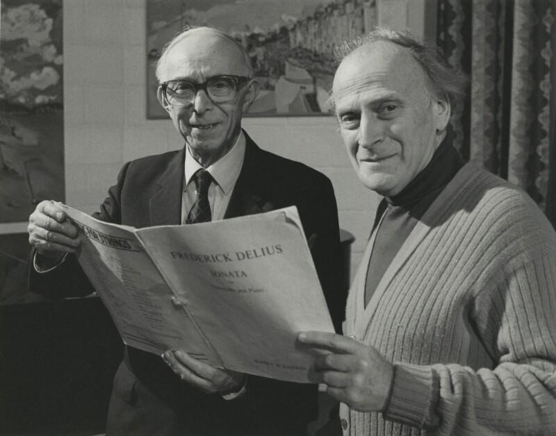 Eric William Fenby; Yehudi Menuhin, by Unknown photographer, 1970s - NPG x27595 - © National Portrait Gallery, London