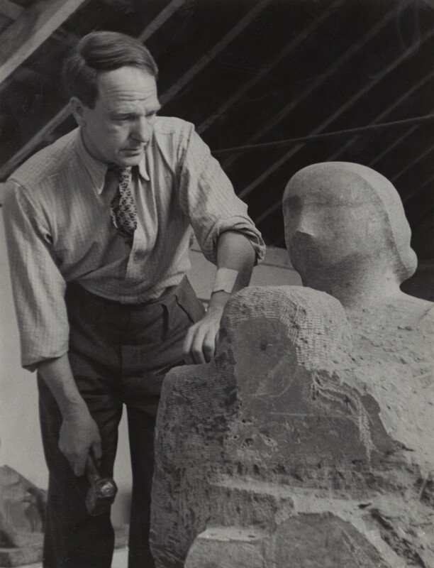 Henry Moore, by Howard Coster, 1944 - NPG x2037 - © National Portrait Gallery, London