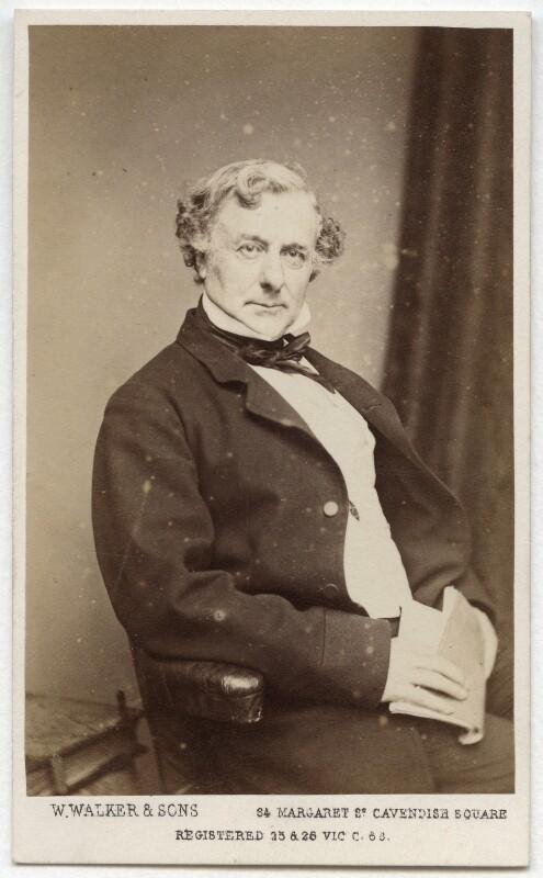 Thomas Milner Gibson, by William Walker & Sons, 1865 - NPG x21356 - © National Portrait Gallery, London