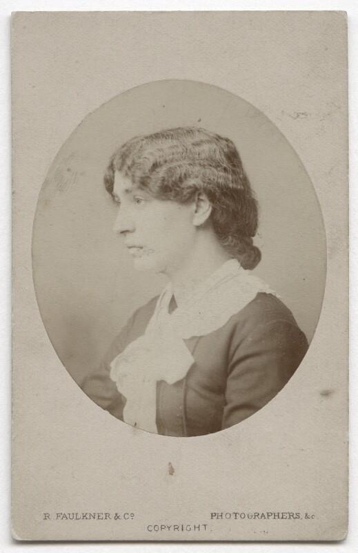 Jane Morris (née Burden), by Robert Faulkner & Co, October 1879 - NPG x129536 - © National Portrait Gallery, London