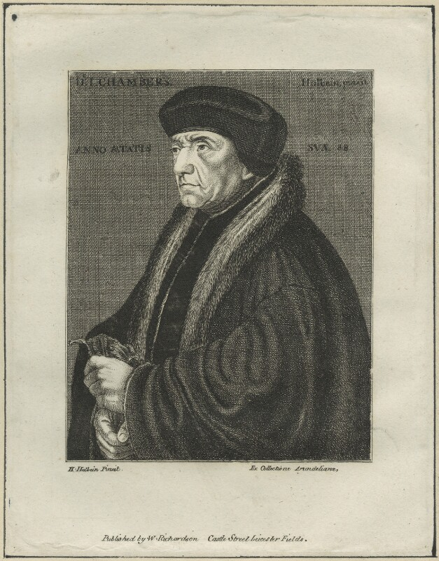 John Chambre (Chamber, Chambers), after Hans Holbein the Younger, probably late 18th to early 19th century - NPG D24842 - © National Portrait Gallery, London