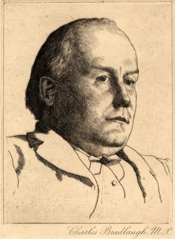 Charles Bradlaugh, by William Strang, circa 1890 - NPG D9019 - © National Portrait Gallery, London