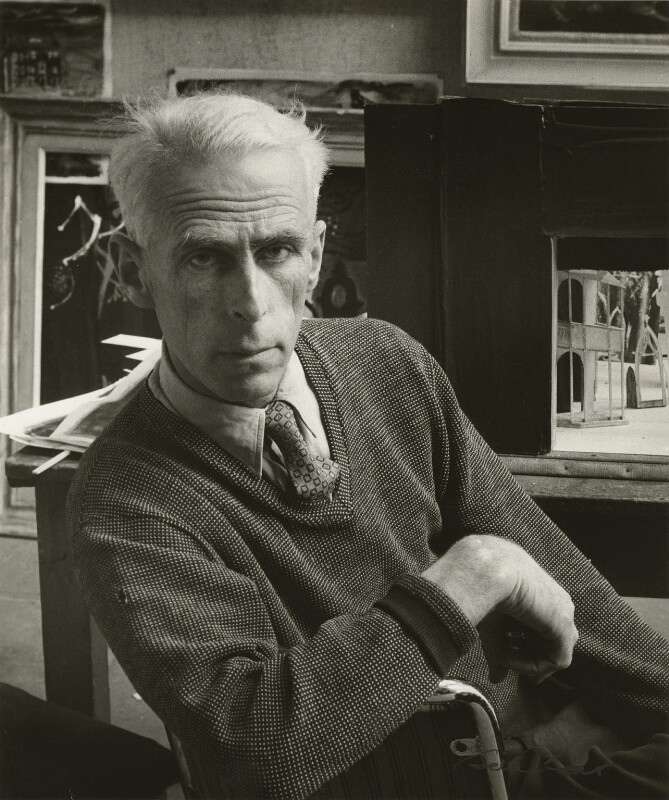 John Piper, by Ida Kar, 1954 - NPG x129551 - © National Portrait Gallery, London