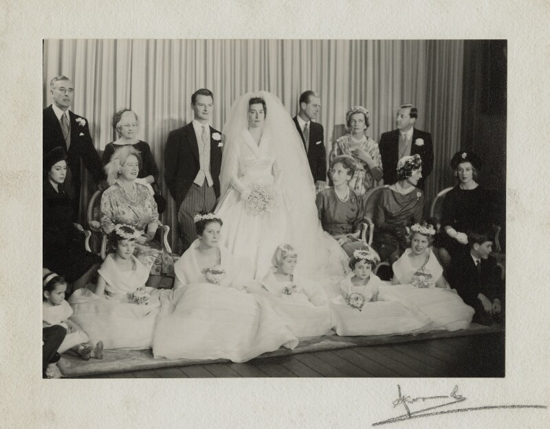The wedding of David Hicks and Lady Pamela Mountbatten, by Madame Yevonde, 13 January 1960 - NPG x34117 - © Yevonde Portrait Archive