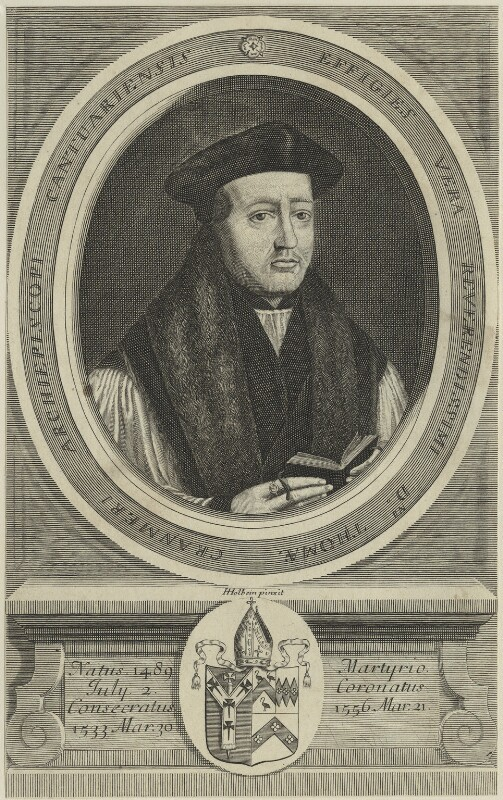 Thomas Cranmer, after Hans Holbein the Younger, 1679 - NPG D24908 - © National Portrait Gallery, London