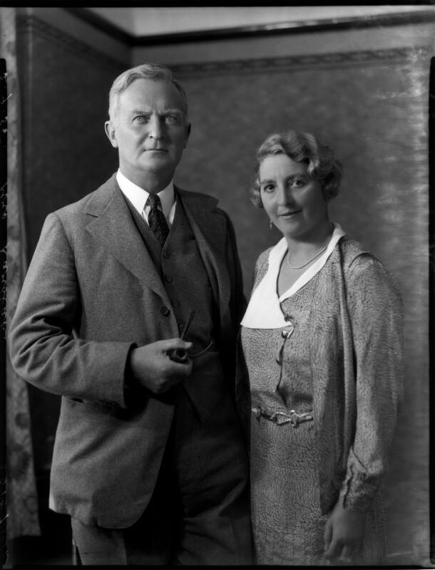 Sir Henry Karslake; Florence Clare (née Rooke), Lady Karslake, by Bassano Ltd, 2 September 1935 - NPG x151742 - © National Portrait Gallery, London