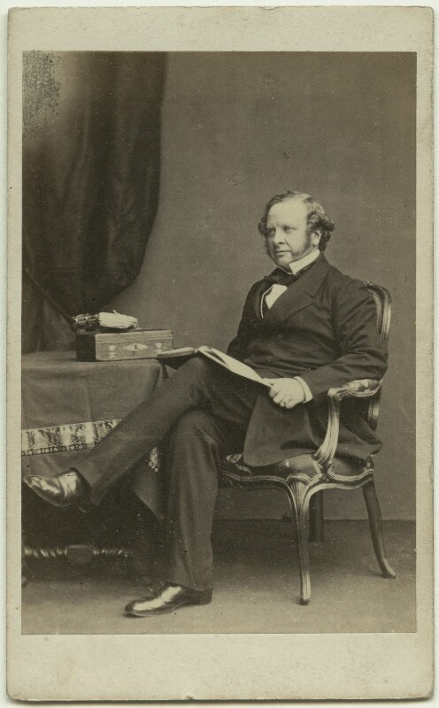 Granville George Leveson-Gower, 2nd Earl Granville, by John & Charles Watkins, published by  Mason & Co (Robert Hindry Mason), early 1860s - NPG Ax8541 - © National Portrait Gallery, London