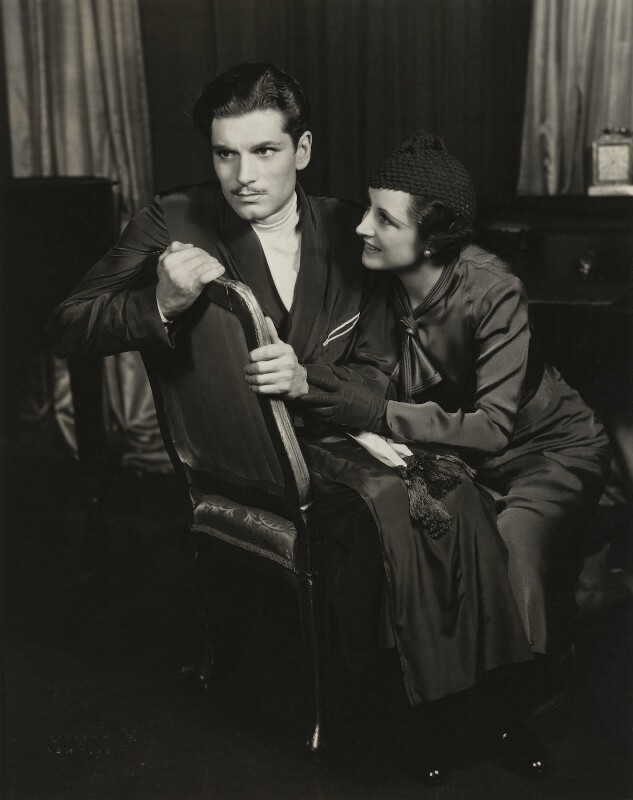 Laurence Kerr Olivier, Baron Olivier and Jill Esmond in The Green Bay Tree, by Vandamm Studio, 1933 - NPG x29991 - © reserved; collection National Portrait Gallery, London
