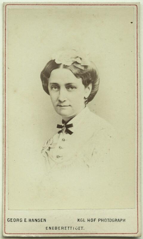 Louise, Queen of Denmark, by Georg Emil Hansen, 1860s - NPG Ax46188 - © National Portrait Gallery, London