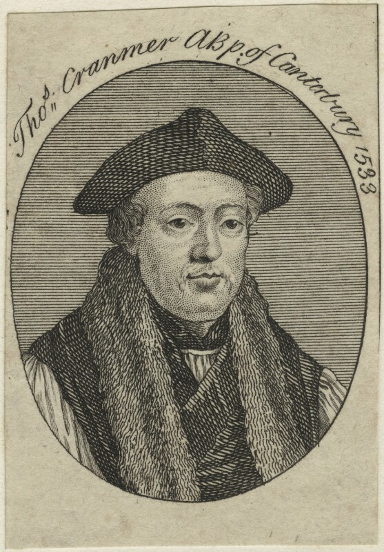 Thomas Cranmer, after Unknown artist, possibly 18th century - NPG D24938 - © National Portrait Gallery, London