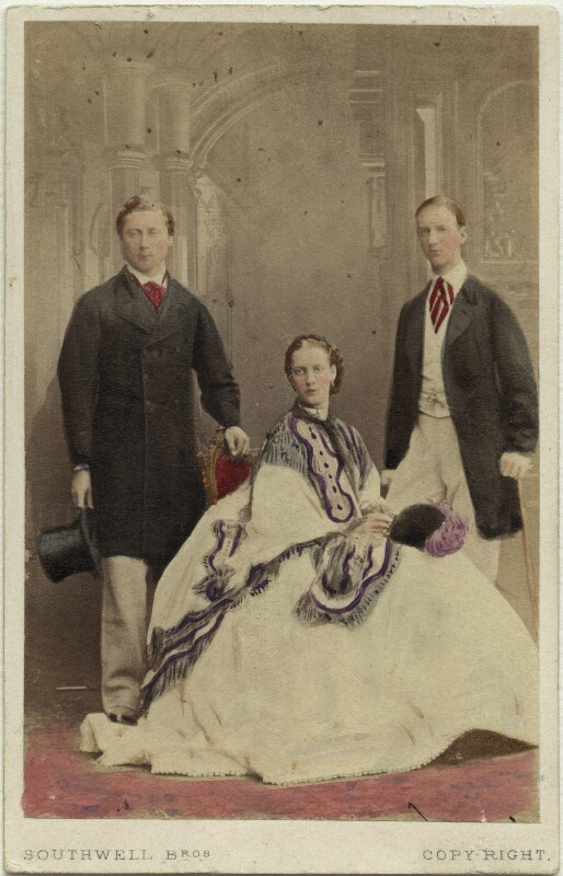 King Edward VII; Queen Alexandra; George I, King of Greece, by Southwell Brothers, October 1863 - NPG Ax46759 - © National Portrait Gallery, London
