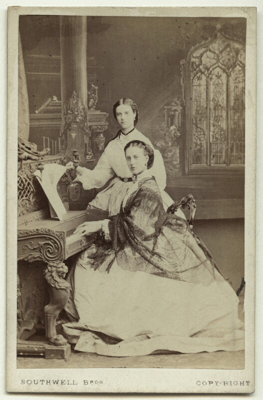 Maria Feodorovna, Empress of Russia (Princess Dagmar); Queen Alexandra, by Southwell Brothers, October 1863 - NPG x129566 - © National Portrait Gallery, London