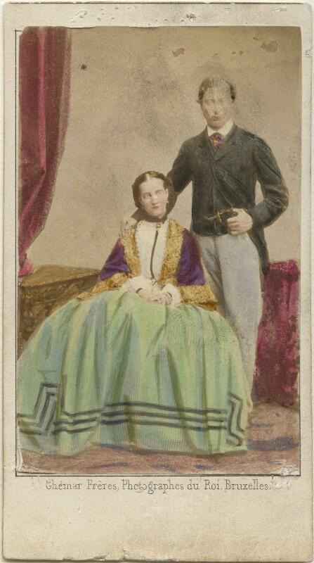 Queen Alexandra; King Edward VII, by Ghémar Frères, 9 September 1862 - NPG Ax46732 - © National Portrait Gallery, London