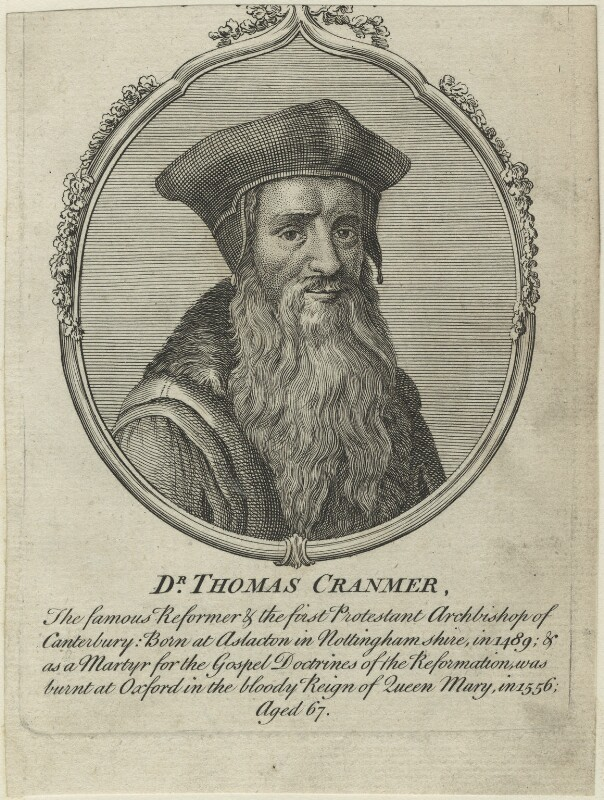 Thomas Cranmer, after Unknown artist, possibly 18th century - NPG D24941 - © National Portrait Gallery, London