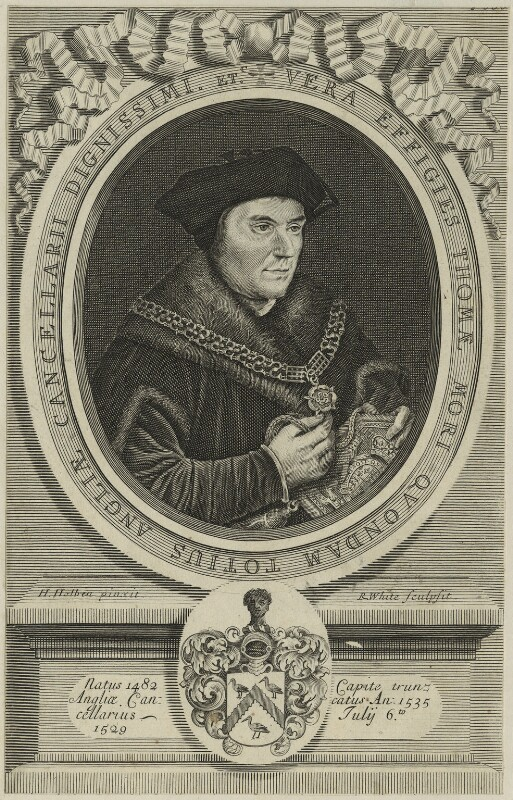 Sir Thomas More, by Robert White, 1681 - NPG D24947 - © National Portrait Gallery, London