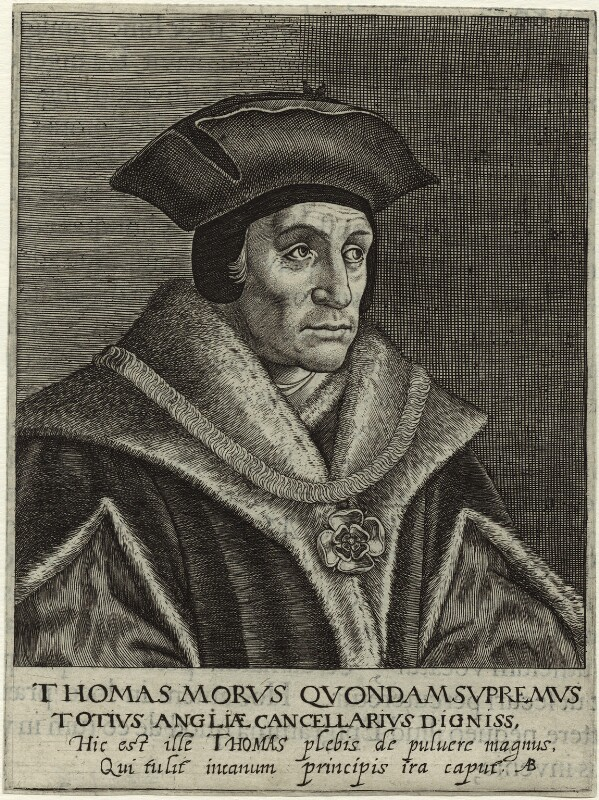 Sir Thomas More, by Magdalena de Passe, or by  Willem de Passe, 1620 - NPG D24948 - © National Portrait Gallery, London
