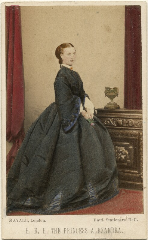 Queen Alexandra, by John Jabez Edwin Mayall, November 1862 - NPG Ax46748 - © National Portrait Gallery, London