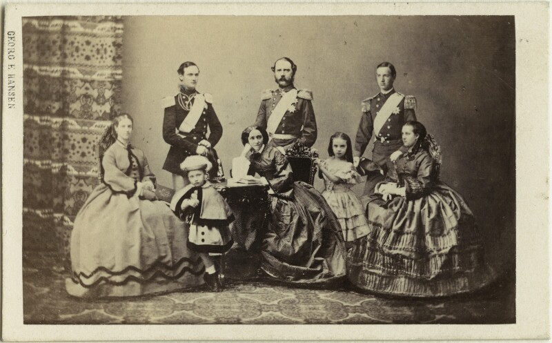 Christian IX, King of Denmark and his family, by Georg Emil Hansen, 1862 - NPG x74402 - © National Portrait Gallery, London