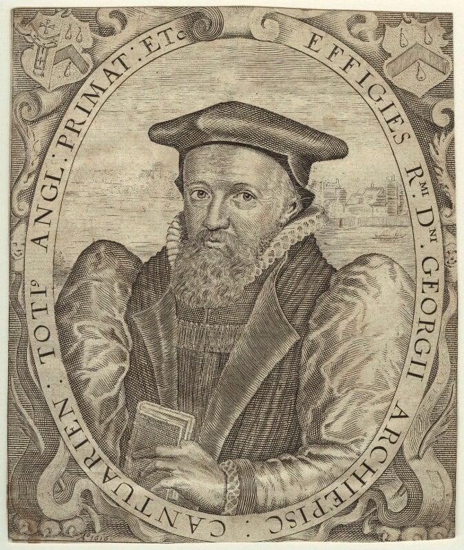 George Abbot, by Simon de Passe, 1616 - NPG D31771 - © National Portrait Gallery, London
