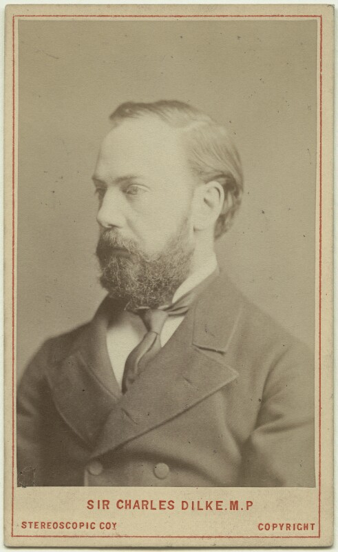 Sir Charles Wentworth Dilke, 2nd Bt, by London Stereoscopic & Photographic Company, July 1882 - NPG x13462 - © National Portrait Gallery, London